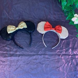 2 Pairs Sequin Minnie Mouse Headband Ears